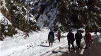 Sa Pa tiếp tục xuất hiện mưa tuyết