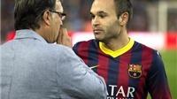 Andres Iniesta: 'Cầu thủ Barca sống chết cùng Tata Martino'