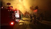 Cháy lớn tại xưởng mộc tỉnh Ninh Thuận