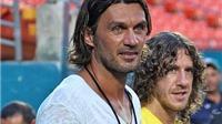 Puyol từng gửi tâm thư cho Maldini: 'Anh là thần tượng của đời tôi'