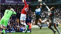 Adnan Januzaj bắt chước 'Bàn tay của Chúa' của Maradona