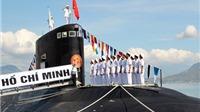 Toàn cảnh Lễ thượng cờ cấp quốc gia trên tàu ngầm tại quân cảng Cam Ranh