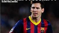 Ảnh chế thất bại của Barca: Chú hề Messi nhận QBV, 'giày thi đấu' độc đáo của Barca