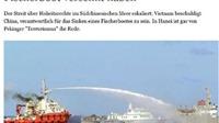 Một loạt báo Đức tố cáo tàu Trung Quốc đâm chìm tàu cá Việt Nam