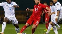 Honduras thua trắng 0-2 trước Thổ Nhĩ Kì
