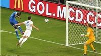 CHÙM ẢNH: Balotelli bay người đánh đầu như siêu nhân, hạ gục tuyển Anh