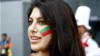 Sắc màu CĐV: Thẫn thờ với sự quyến rũ của 'hot girl' Iran