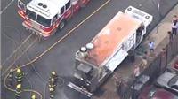 Xe chở thực phẩm phát nổ, 12 người bị bỏng