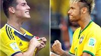 Brazil - Colombia: Cuộc chiến giữa 2 số 10 đích thực