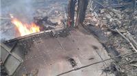 VIDEO: Hiện trường vụ rơi máy bay trực thăng Mi-171 tại Hà Nội