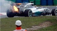 VIDEO: Xe bốc cháy, Hamilton xếp thứ 21 ở cuộc đua phân hạng tại Hungary