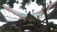 Trùng tu đình Tiên Canh: Sập nhà bao che, nguy cơ hư hỏng cấu kiện gỗ