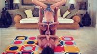 Động tác yoga cực khó của Carles Puyol và bạn gái gây sốt