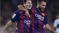 Messi lập cú đúp, Mascherano nhận thẻ đỏ, Barca thắng Elche 3-0