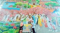 Bức tranh gốm cao nhất Việt Nam trong tòa tháp Lotte