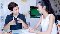 Á khôi Thúy Vân luyện tiếng Anh cấp tốc để thi Hoa hậu Quốc tế 2015