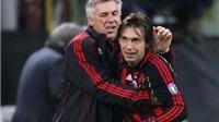 Ancelotti: 'Nếu Pirlo đá ở TBN, Real sẽ khó vô địch Liga hơn'