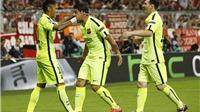 Hai bàn, một kịch bản của Barca: Messi châm ngòi, Suarez kiến tạo, Neymar ghi bàn
