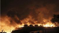 Nổ lớn ở Thiên Tân, Trung Quốc: Nhân chứng mô tả trời đêm 'đỏ rực' dưới ánh lửa