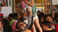 Niềm vui vỡ òa của 5.000 người tị nạn khi tới được vùng đất hứa