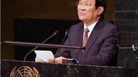 Chủ tịch nước Trương Tấn Sang phát biểu tại Hội nghị thượng đỉnh LHQ