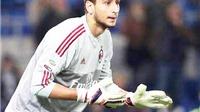 Thủ môn 16 tuổi Donnarumma của Milan được hét giá... 170 triệu euro