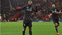 Southampton 1-6 Liverpool: Vừa trở lại, Sturridge đã lập cú đúp. Origi gây sốc với hat-trick