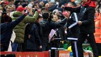 Juergen Klopp ca ngợi CĐV Liverpool sau trận hòa với West Brom
