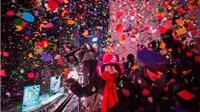 VIDEO: Diễn tập thả hoa giấy đêm giao thừa tại Quảng trường Thời đại