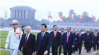 Lãnh đạo Đảng, Nhà nước viếng Chủ tịch Hồ Chí Minh nhân kỷ niệm 70 năm ngày Tổng tuyển cử đầu tiên