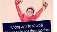 Huỳnh Lập cùng 20 nghệ sĩ kêu gọi không xả rác đêm Giao thừa