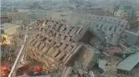 VIDEO: Động đất mạnh ở Đài Loan khiến nhiều tòa nhà cao tầng đổ sập