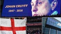 CHÙM ẢNH: Xúc động lễ tưởng niệm Johan Cruyff ở trận Anh - Hà Lan