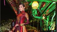 Á hậu Trương Thị May trình diễn áo dài từng thi Miss Universe 2013