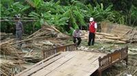 Lốc xoáy tại Yên Bái làm 13 ngôi nhà sập và 63 ngôi nhà tốc mái