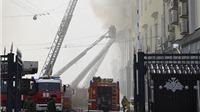 Hỏa hoạn lớn tại trụ sở Bộ Quốc phòng Nga ở thủ đô Moskva