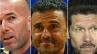 Simeone, Zidane và Luis Enrique chơi trò 'tâm lý chiến'