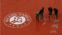 Tennis ngày 31/5: Roland Garros hoãn các trận đấu do trời mưa. Kyrgios giận dữ trên mạng xã hội
