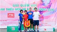 Kết thúc giải quần vợt Thanh thiếu niên Hà Nội mở rộng lần thứ 5
