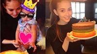 Người mẫu Hannah Quinlivan mất 7 tiếng làm bánh mừng sinh nhật con gái tròn tuổi