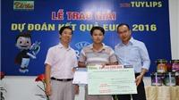 Báo Sài Gòn Giải Phóng trao giải cuộc thi Dự đoán EURO 2016