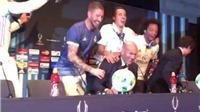 VIDEO: Zidane sốc với màn chúc mừng bất ngờ của cầu thủ Real