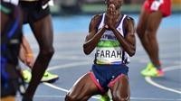 Xem lại khoảnh khắc Mo Farah QUỴ NGÃ, rồi ĐỨNG DẬY giành HCV cự ly 10.000m