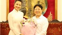 Thứ trưởng Vương Duy Biên gặp gỡ Hoa hậu, Á hậu Bản sắc Việt toàn cầu