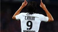Vừa bị chê 'chân gỗ' trước Arsenal, Cavani ghi 4 bàn trong đúng 1 hiệp đấu