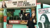 Kwon Sang Woo gửi cả xe tải bánh rán cho người đẹp Choi Ji Woo