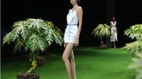 Hoa hậu Ngọc Hân thức trắng đêm làm BST 'Khu vườn nhà Monet'