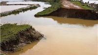 Mưa lũ ở Quảng Bình: Tuyến đê ngăn mặn tại Bố Trạch bị vỡ tràn