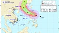 Tin mới nhất về siêu bão Haima gần Biển Đông