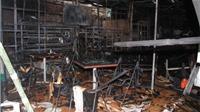 Cháy dãy cửa hàng điện thoại, tạp hóa thiệt hại hàng tỷ đồng